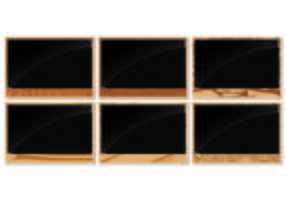 Fotoramar med träkorns kanter