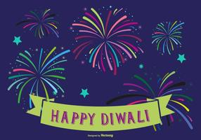 Färgglada Happy Diwali Illustration