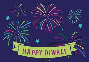 Kleurrijke Happy Diwali Illustratie