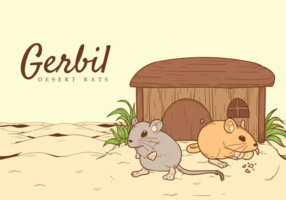 Gerbil Vektor-Illustration