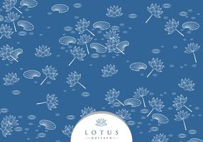 Outline Lotus Disty Pattern Free Vector