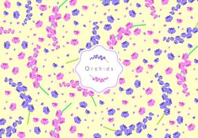 Orchids Disty Pattern Gratis Vector