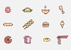 Food and Appetizer Vector Icons