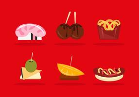 Appetizers Illustration Pack Vector