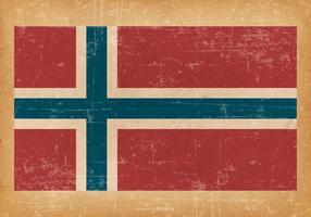 Drapeau grunge de la Norvège
