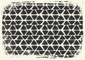 Hand Drawn Triangles Grunge Background