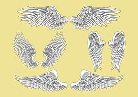 Sammanfattning Vector Illustration Wings Set
