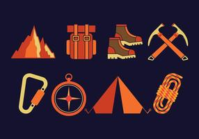 Alpinist Vektor Icons Set
