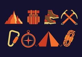 Set di icone vettoriali di alpinista