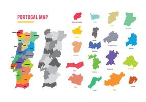 Vector do mapa de Portugal