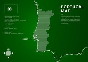 Portugal map tech free vector