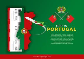 Portugal Map Trip Free Vector