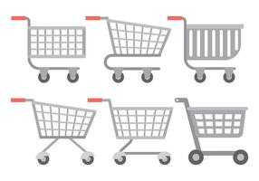 Supermarkt cart vector iconen