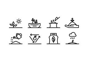 Icône vectorielle de jardinage
