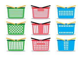 Supermarket Cart Icon Set