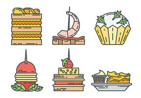 Appetizers Vector Pictogrammen