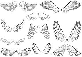 Vecteurs libres d'anges d'ange