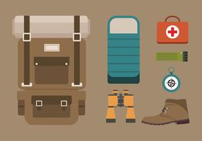 Hiking Equipment Free Vector