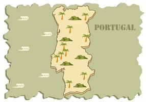 Portugal Map Background Vector
