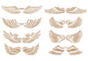 Set Of Angel Wings Icons vector