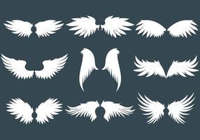 Iconos del vector de las alas del ángel
