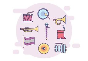 Marching Band Equipment vector
