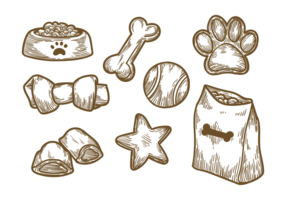 Dog Biscuit Icons Vector
