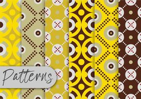 Yellow  Geometric Pattern Set