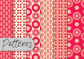 Red Geometric Pattern Set