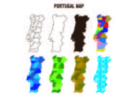 Vecteurs de carte de portugal