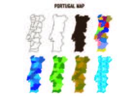 Portugal Karta vektorer