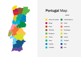 Vector de carte du Portugal