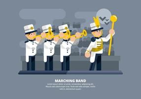 Marschierende Band Illustration