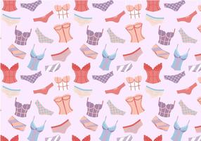Free Woman's Underclothes Pattern Vectors