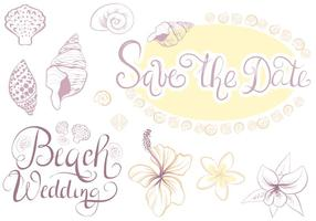 Vettori di Beach Wedding 2 gratis