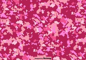 Vector Pink Digital Camouflage Background