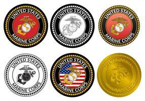 USMC Abzeichen Vektor