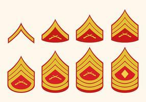 Flat Marine Corps Rang Vektoren