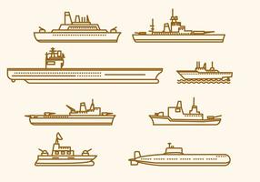 Flat Marine Ship Vectors