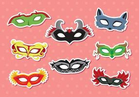 Mascherata maschera vettoriale