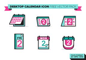 Desktop Calendar Icon Free Vector Pack