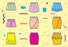 Retro Skirt Icons vector