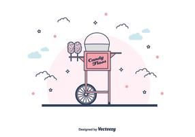 Candy Floss Machine Vector