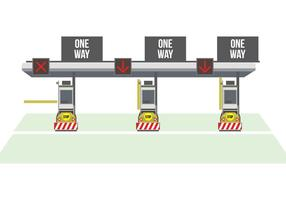 Toll Gate Vector