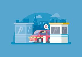 Free Toll Gate Payment Illustration