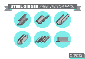 Pack de vecteur libre de poutre en acier