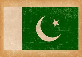 Grunge flagga av Pakistan