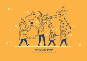 Marching Band Parade Vector Karaktär Illustration