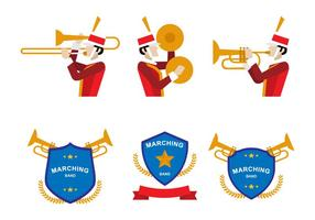 Flat Marching Band Icon vector