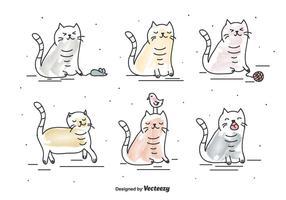 Vetor engraçado do gato